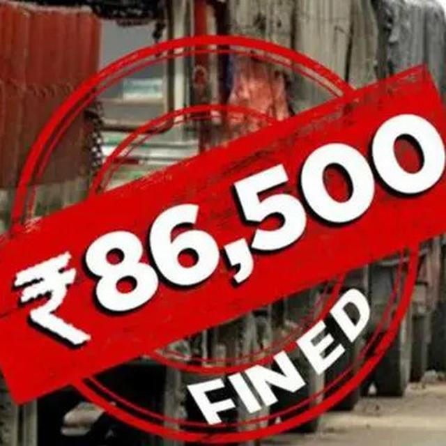 TRUCK DRIVER FINED RS 86,500